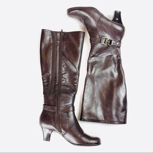 Aerosoles Faux Leather Knee High Heeled Boots
